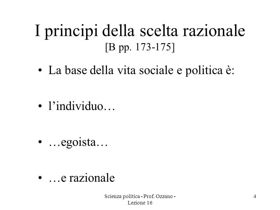 I principi della scelta razionale [B pp. 173-175]